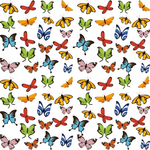 Schmetterlinge fliegen Premium Vektoren