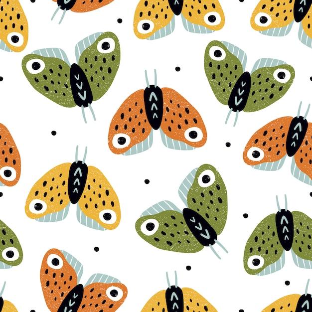Schmetterlinge nahtlose muster Premium Vektoren