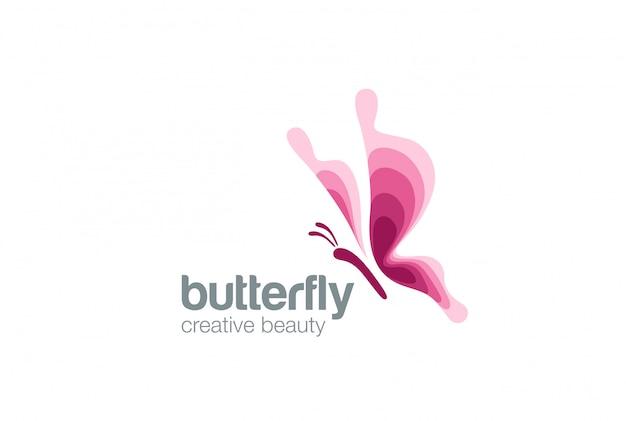 Schmetterlings-logo-symbol. Kostenlosen Vektoren