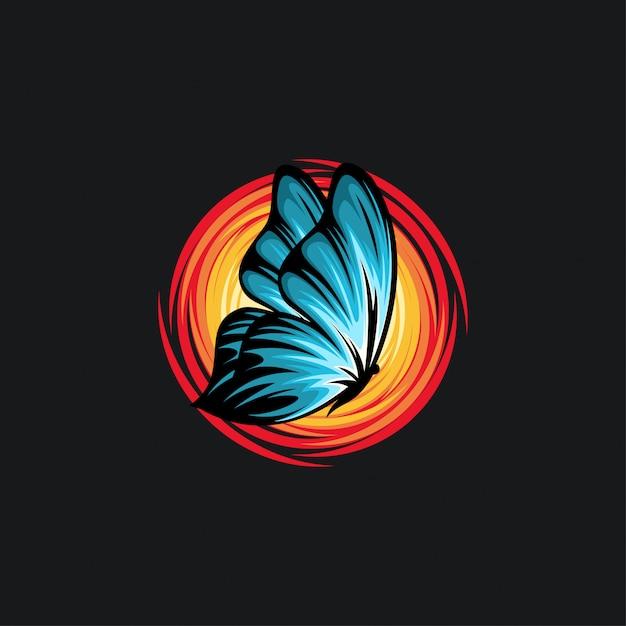 Schmetterlingsdesign ilustration Premium Vektoren