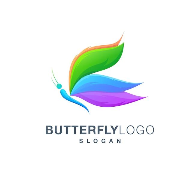 Schmetterlingslogo Premium Vektoren