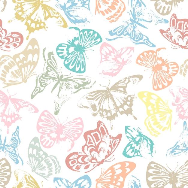 Schmetterlingsmuster Premium Vektoren