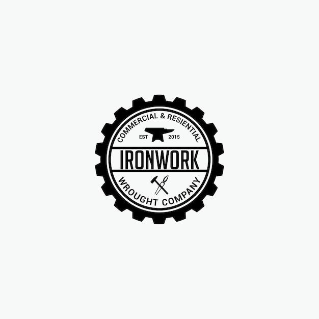 Schmiedearbeiten-logo Premium Vektoren