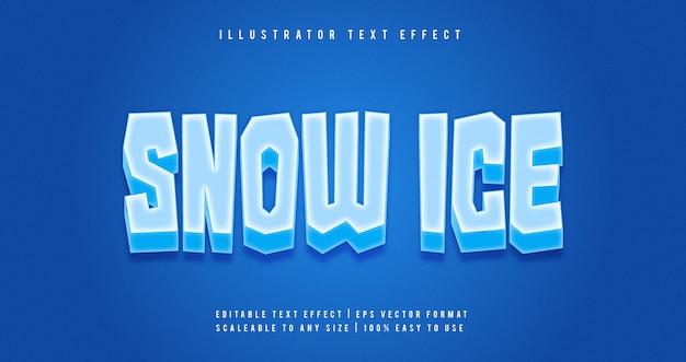Schnee eis text style schriftart effekt Premium Vektoren