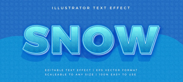 Schnee winter text schriftart effekt Premium Vektoren