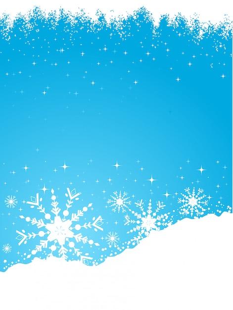 Schneebedeckten hintergrund Kostenlosen Vektoren