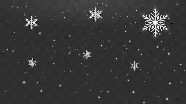 Schneefallendes winter-schneeflockenweihnachtsneues jahr-konzept des entwurfes. Premium Vektoren