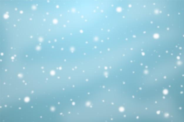 Schneefallthema für hintergrund Kostenlosen Vektoren