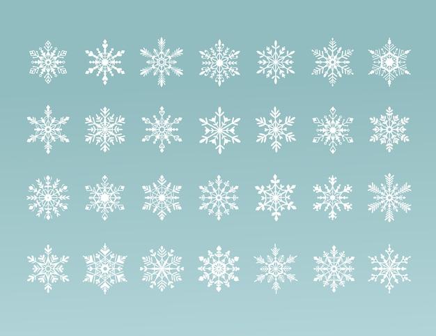 Schneeflocken-auflistung Premium Vektoren
