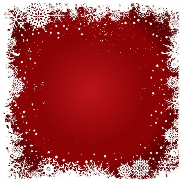 schneeflocken rahmen auf einem roten hintergrund. Black Bedroom Furniture Sets. Home Design Ideas