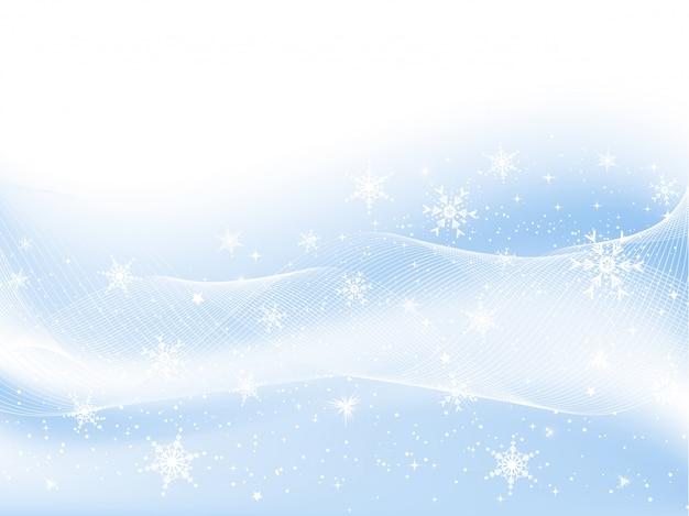 Schneeflocken und sterne Kostenlosen Vektoren