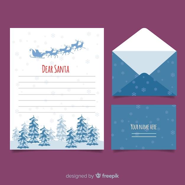 Schneeflocken Weihnachten Briefvorlage Download Der Kostenlosen Vektor