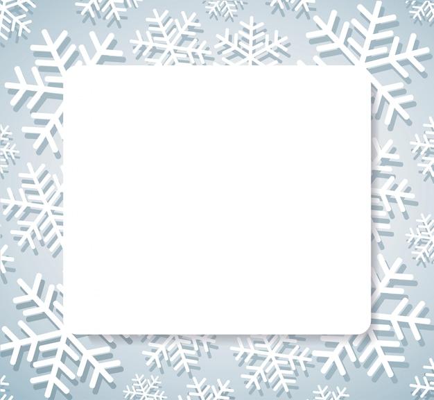 Schneeflockenfahne für web weihnachtskonzepthintergrund Premium Vektoren