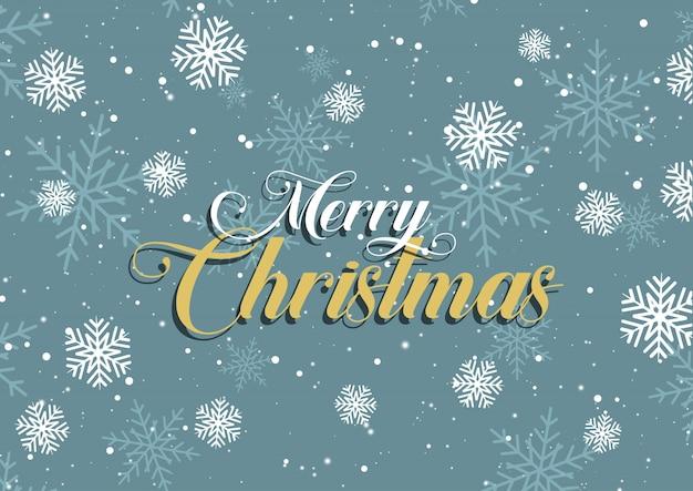 Schneeflockenhintergrund der frohen weihnachten Kostenlosen Vektoren