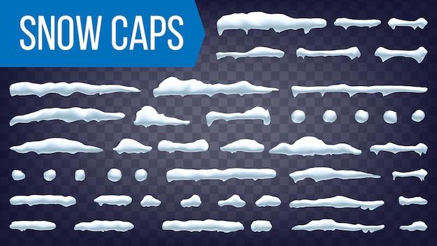 Schneeverwehung eingestellt Premium Vektoren