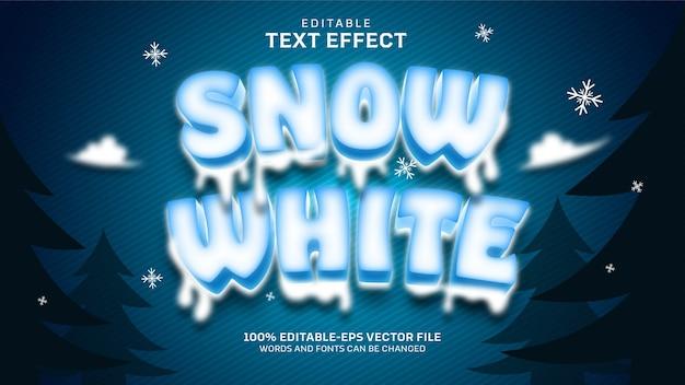 Schneewittchen-texteffekt Kostenlosen Vektoren