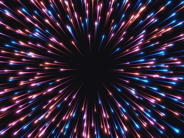 Schnelle geschwindigkeit. abstrakter explosionshintergrund. Premium Vektoren