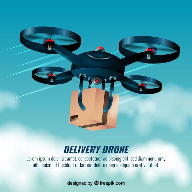 Schnelle lieferung drone design Kostenlosen Vektoren