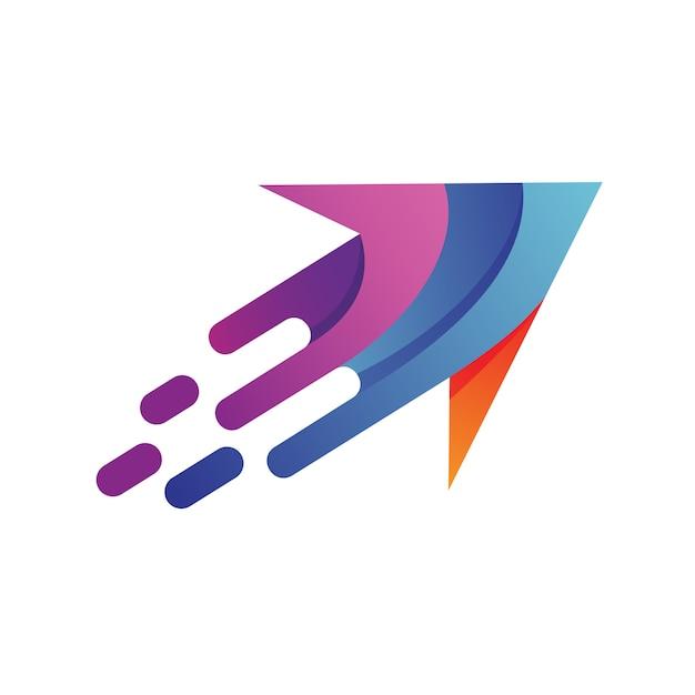 Schneller pfeil logo vektor Premium Vektoren