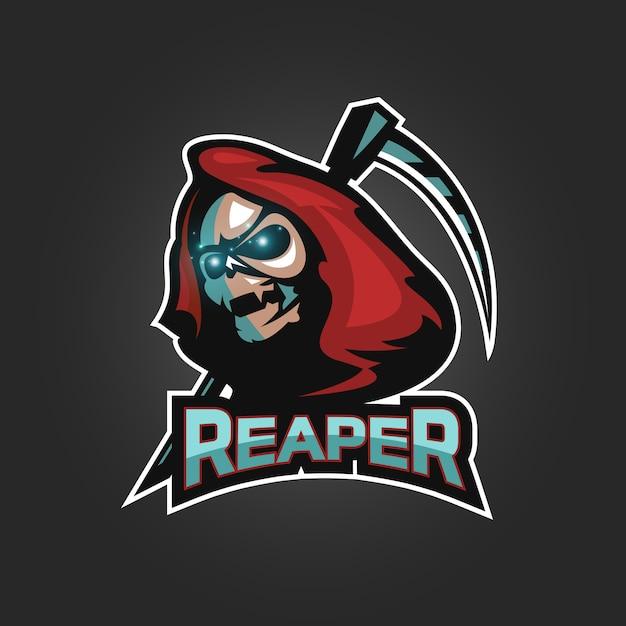 Schnitter esports logo Premium Vektoren