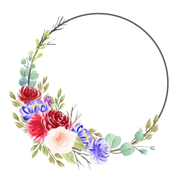Schöne aquarellblumenvorbereitungen Premium Vektoren