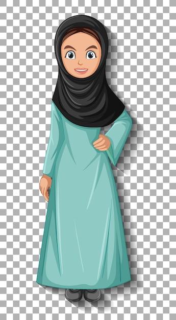 Schöne arabische dame zeichentrickfigur Kostenlosen Vektoren