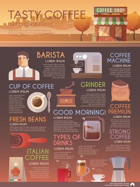 Schöne flache infografik-broschüre für ihre projekte Premium Vektoren