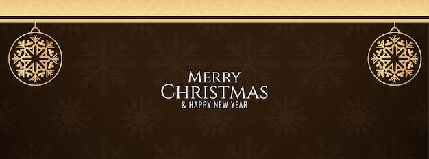 Schöne frohe weihnachten banner Kostenlosen Vektoren