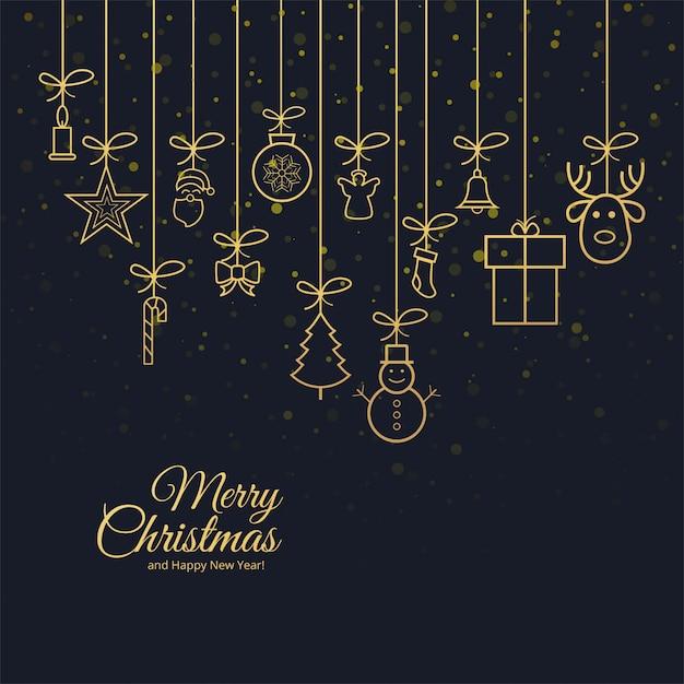 Schöne grußkarte der frohen weihnachten mit feierhintergrund Kostenlosen Vektoren
