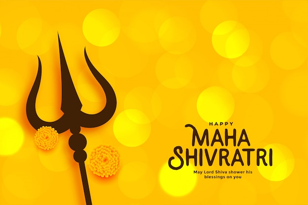 Schöne grußkarte maha shivratri festivals Kostenlosen Vektoren