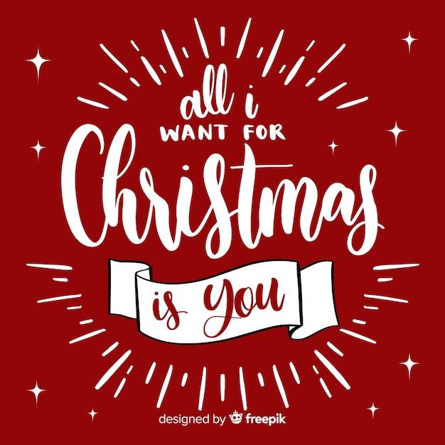 Schöne hand gezeichnete weihnachtsbeschriftung Kostenlosen Vektoren