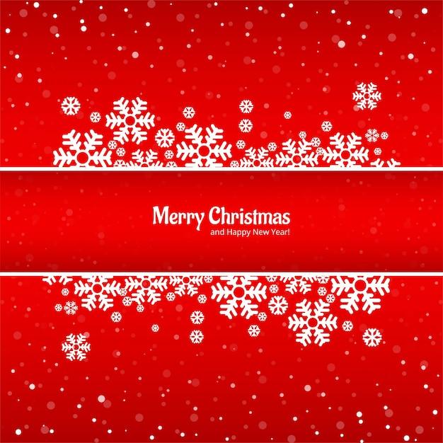 Schöne karte der frohen weihnachten mit schneeflockenhintergrund Kostenlosen Vektoren
