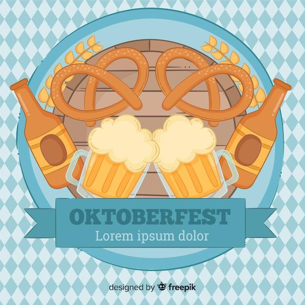 Schöne oktoberfestkomposition Kostenlosen Vektoren
