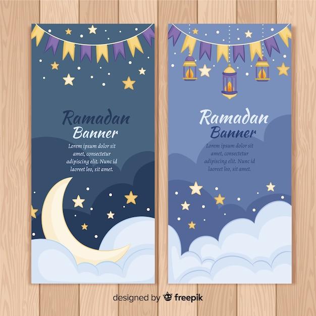 Schöne ramadan-banner Kostenlosen Vektoren