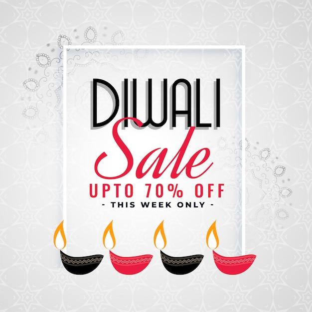 Schöne verkauf vorlage für diwali festival Kostenlosen Vektoren