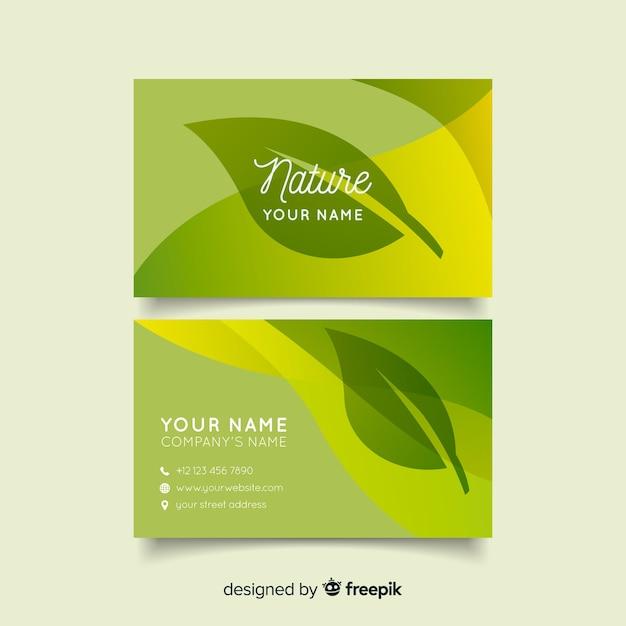 Schöne visitenkarte mit naturkonzept Kostenlosen Vektoren