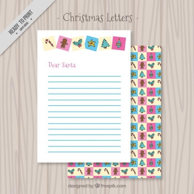 sch ne weihnachten brief dekorative elemente kostenlose vektor