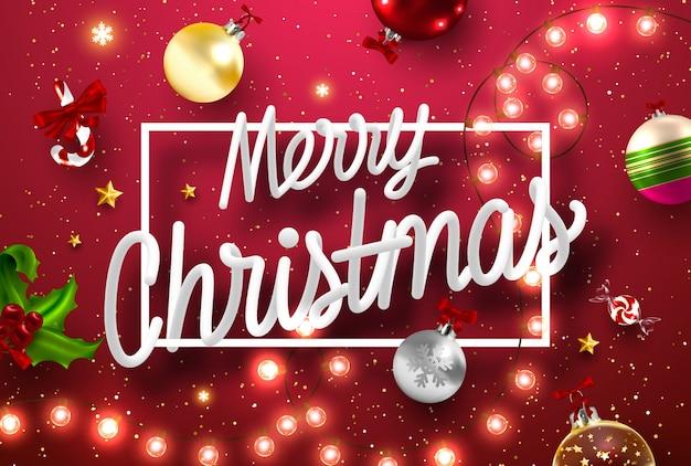 Bilder Schöne Weihnachten.Schöne Weihnachten Hintergrund Download Der Premium Vektor