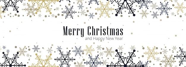 Schöne weihnachtsschneeflockenkarten-feierfahne Kostenlosen Vektoren