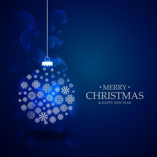 sch nen blauen hintergrund mit weihnachtsfest ball mit. Black Bedroom Furniture Sets. Home Design Ideas