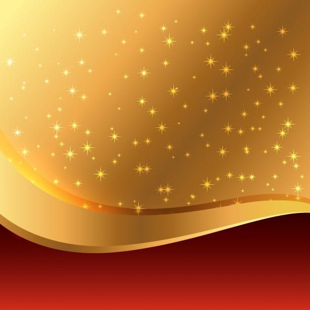 Schönen Goldenen Hintergrund Kostenlose Vektor