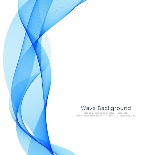 Schöner blauer wellenhintergrund Premium Vektoren