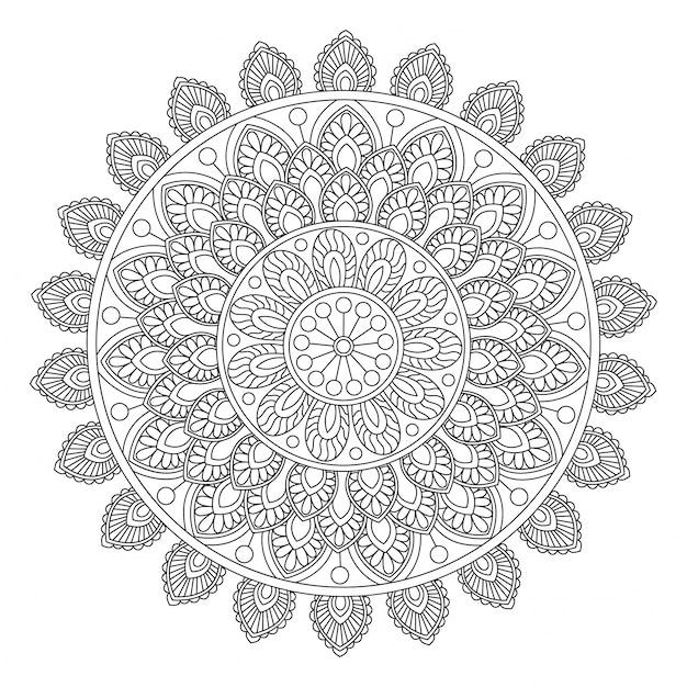 schöner blumenmandalaentwurf kreatives dekoratives