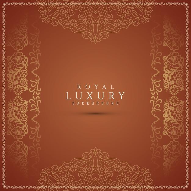 Schöner dekorativer brauner luxushintergrund Kostenlosen Vektoren