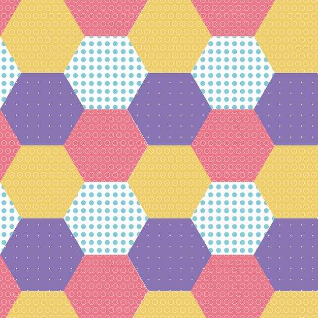 Schöner geometrischer hintergrund Kostenlosen Vektoren