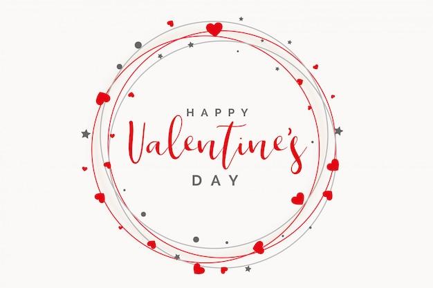 Schöner herzrahmen für valentinsgrußtag Kostenlosen Vektoren