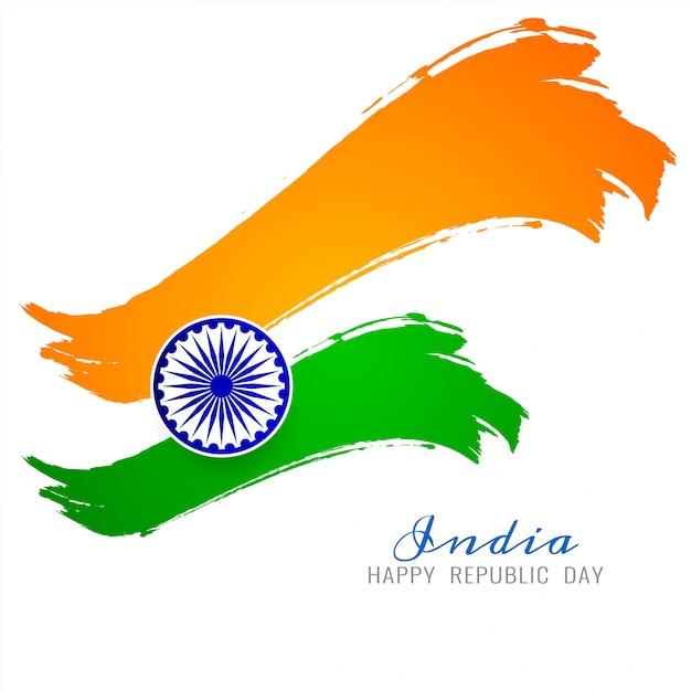 Schöner indischer flaggenthema-vektorhintergrund Kostenlosen Vektoren