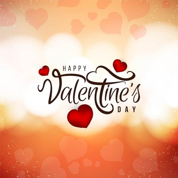 Schöner liebeshintergrund des glücklichen valentinstags Kostenlosen Vektoren