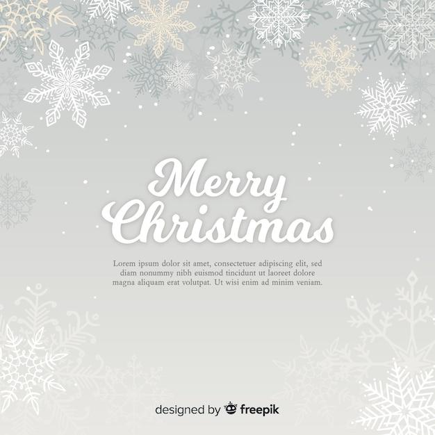 Schöner weihnachtshintergrund mit flachem design Kostenlosen Vektoren