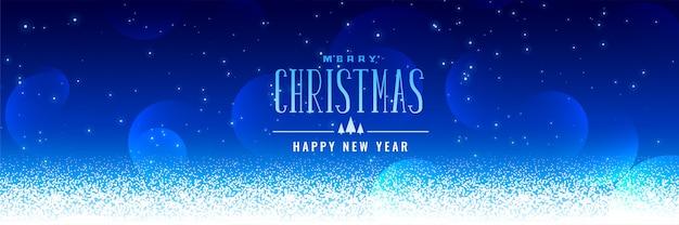 Schöner weihnachtsschneefallblauhintergrund Kostenlosen Vektoren